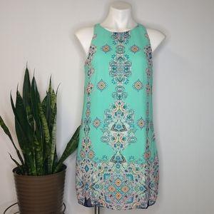 By & By kaleidoscope sheath dress size M